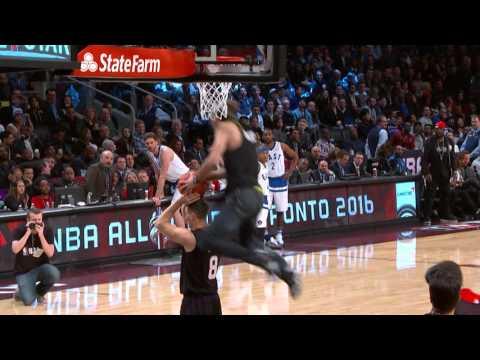 спорт, необычное, знаменитости, гифки - Видео: звёзд NBA потряс бросок, сделанный парнишкой на All Star Game