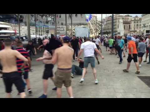 English fans riots in Marseille / англичане в Марселе