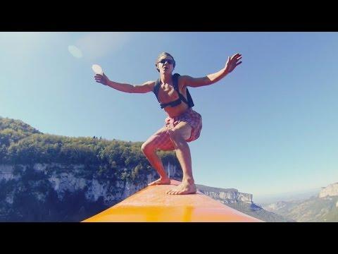Трюк, от которого захватывает дух: серфинг на высоте 600 метров - спорт, необычное