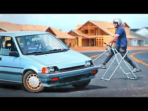 Самая смешная пародия на автомобильные трюки - спорт, авто