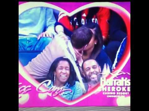Wizards vs Hawks kiss cam beer spilled on black people