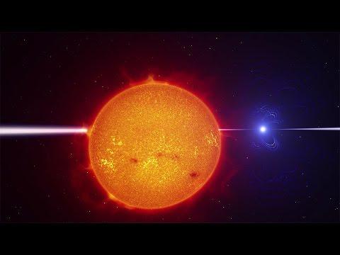 Binary star system AR Scorpii (4K)