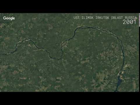 Google Timelapse: Ust-Ilimsk Irkutsk Oblast, Russia