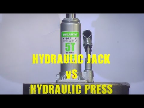 5 Ton Hydraulic Jack vs 500 Ton Hydraulic Press