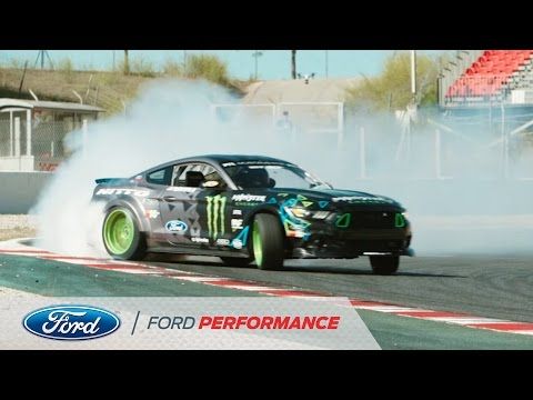 """Vaughn Gittin Jr. and his Ford Mustang RTR in """"Forever Drift"""" 
