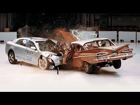 знания, авто - Видео: на краш-тесте столкнули два Chevrolet - 1959 и 2009 годов выпуска