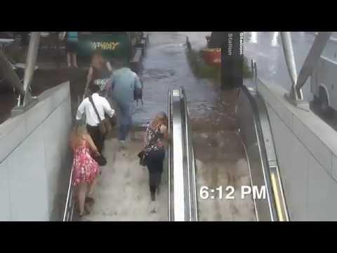 ЧП - Потоп в метро Вашингтона в ускоренной съемке