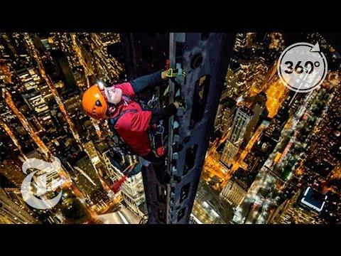 необычное, красота, знания, гаджеты - 360° видео восхождения на самое высокое офисное здание в мире