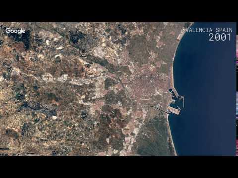 Google Timelapse: Valencia, Spain