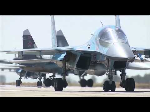 россия, Путин, гаджеты - Опубликовано видео вылета российских СУ-34 из Сирии