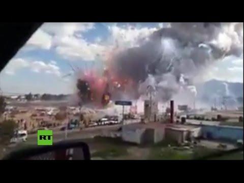 7 главных видео и фото грандиозного пожара на рынке пиротехники в Мексике - ЧП, картинки