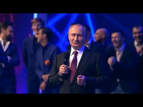 Путин выступил в КВН и насмешил людей шуткой о разводе - телевидение, россия, Путин, необычное