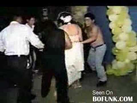 Brides Wedding Gown On Fire