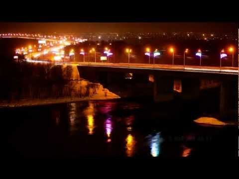 Красноярск Россия Таймлапс - Krasnoyarsk Russia In Motion Time lapse