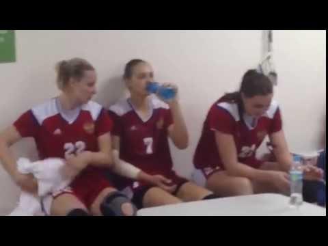 Раздевалка сборной России по гандболу после победы над Норвегией   Рио-2016