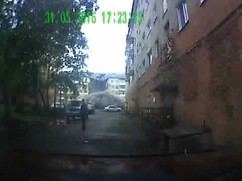 ЧП, россия - Момент обрушения пятиэтажки в Междуреченске попал в объектив регистратора