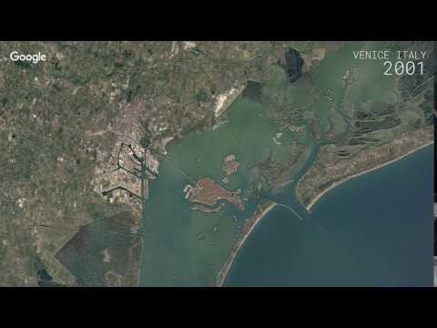 Google Timelapse: Venice, Italy