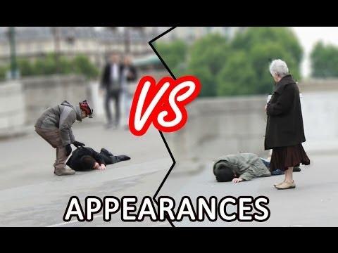 LE POIDS DES APPARENCES (Expérience sociale)   The importance of appearances experiment