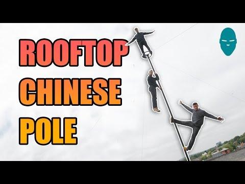 - Захватывающие акробатические трюки на крыше