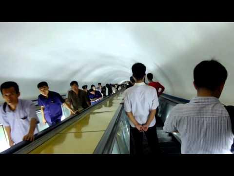 Pyongyang Metro Escalator