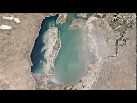 Google Timelapse: Aral Sea