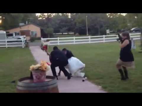 Groom drops bride