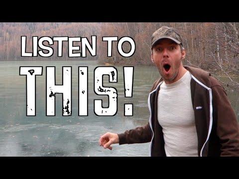 """необычное, знания - Замерзшее озеро издаёт """"внеземные"""" звуки, когда в него бросают камень"""