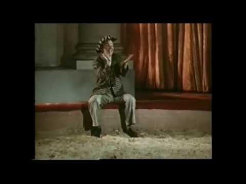Клоун Олег Попов Свободная проволока 1954 г. Oleg Popov Clown Free Wire 1954