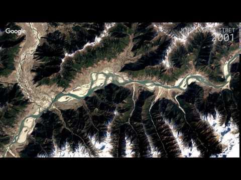 Google Timelapse: Miruixiang, Tibet, China