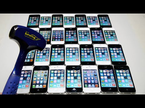 Smashing 30 iPhone's with a Hammer for Science!