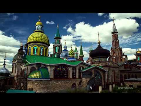 Казань Россия Таймлапс - Kazan Russia In Motion Time lapse