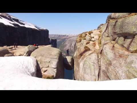 Как выглядит падение с километровой скалы, снятое беспилотником - спорт, красота