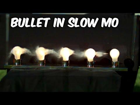 Как пуля проходит сквозь горящие лампочки: замедленная съемка - знания