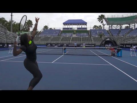 Фантастические теннисные трюки от Серены Уильямс - спорт, необычное, знаменитости, гифки
