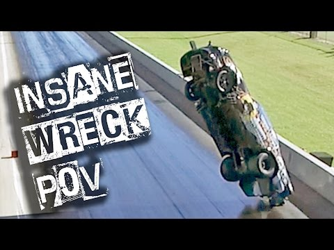 EPIC CAR WRECK Drone Footage - 300ft Mustang FLIGHT!!!
