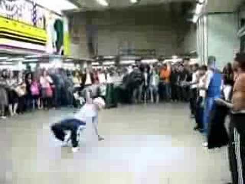 Break Dancer Kicks Baby
