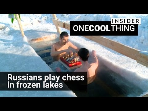 Russians play chess in a frozen lake | One Cool Thing