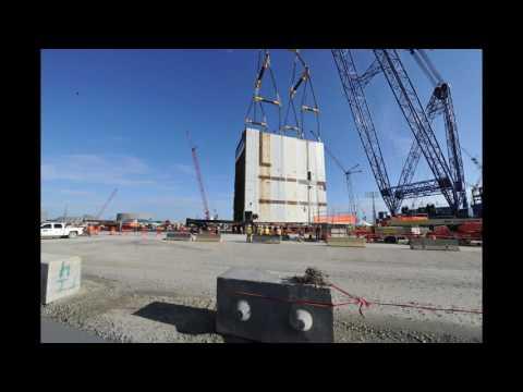 Timelapse Video of Vogtle Unit 4 CA20 Placement