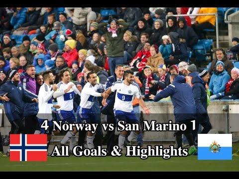 NORWAY VS SAN MARINO 4-1 All Goals & Highlights 2016