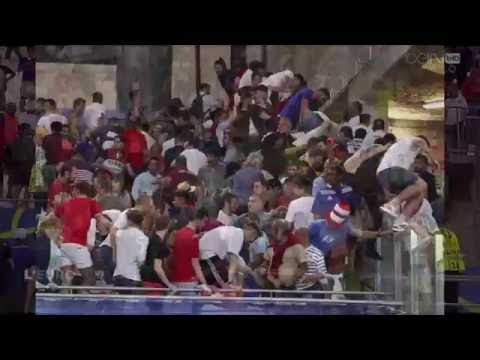 Russian Fans Attack the English at Full Time | Euro 2016 11/06/2016