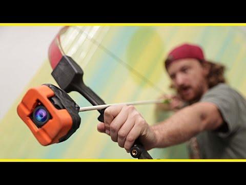 , Головокружительное видео с камеры GoPro, прикрепленной к наконечнику стрелы, LIKE-A.RU