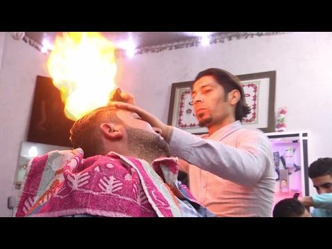 Стрижка огнём: парикмахеры Сектора Газа решили по-своему ухаживать за волосами