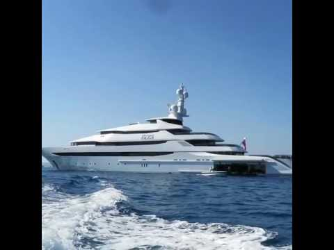 Яхта «Принцесса Ольга» возле Балеарских островов. Съемка очевидца