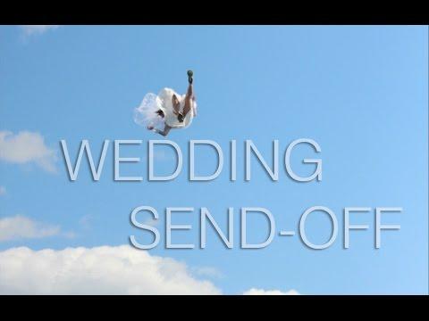 Wedding send-off FAIL - Groom blobs his Bride into a world of pain.