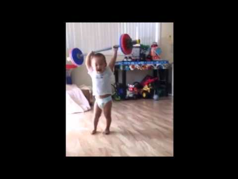 The Ultimate Baby Weightlifting video