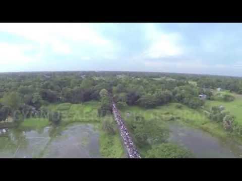 UAV Aerial Filming of Bangladesh Railway Eid Holiday Rush
