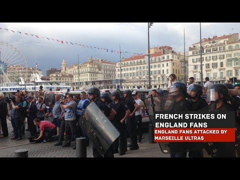 Marseille Ultras' Unprovoked Attack on England Fans | Euro 2016 France