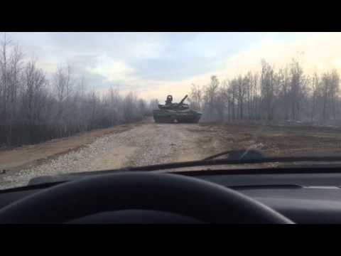 Лобовое столкновение с танком!