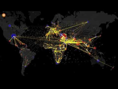 карты - Вся мировая миграция за последние 5 лет на одной интерактивной карте
