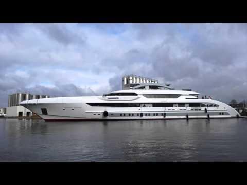 The launch of Heesen's Galactica Super Nova superyacht